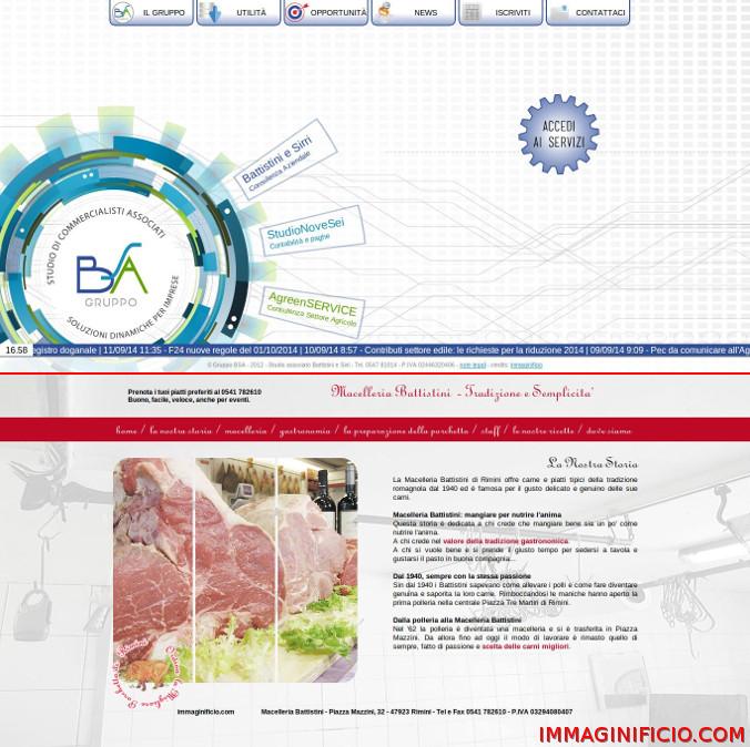 Grafiche personalizzate per Gruppo BSA e Macelleria Battistini