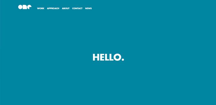 Screenshot del portfolio di One Design Company