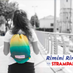 Zainetto in tessuto di ombelloni del Mar Adriatico firmato Rimini Rimini Bags for Strampalato Rimini