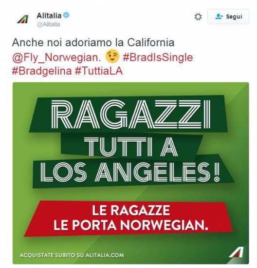 Alitalia e Brad Pitt