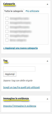 Tutorial WordPress - Categorie, Tag e Immagine in Evidenza