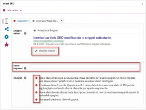 Tutorial Wordpress - Pannello SEO