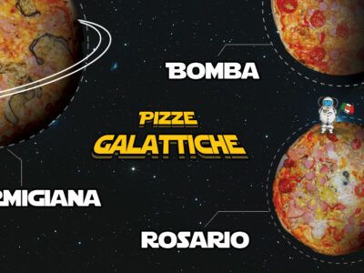 Concept spaziale per Pianeta Pizza! Pronti al decollo?