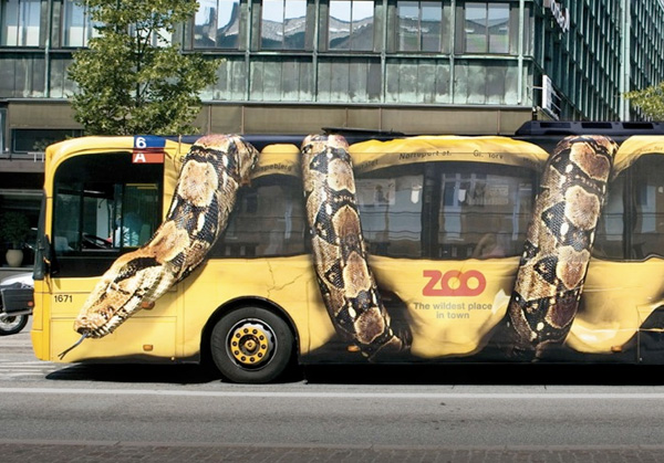 Guerrilla Marketing autobus
