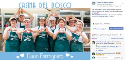 Lo staff affiatato dlla Casina del Bosco di Rimini