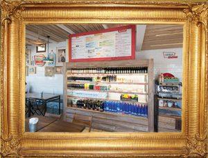 Menu d'arredo interno - Forex con cornice in legno colorato