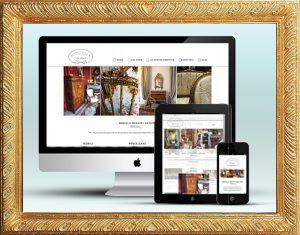 Stile online di Antichità Bellini - Sito WordPress