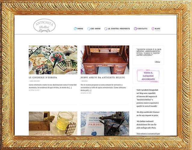 Sito Wordpress per Antichità Bellini