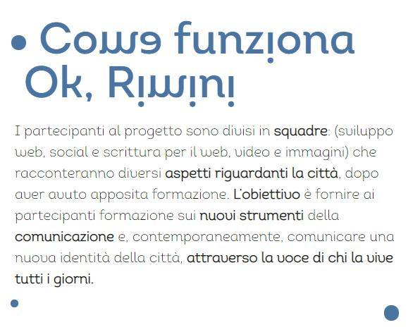 come funziona Ok, Rimini